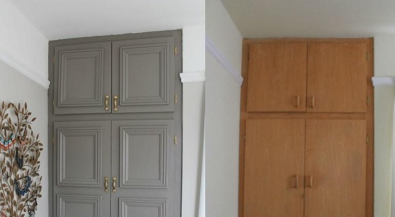 обновление старого шкафа до и после