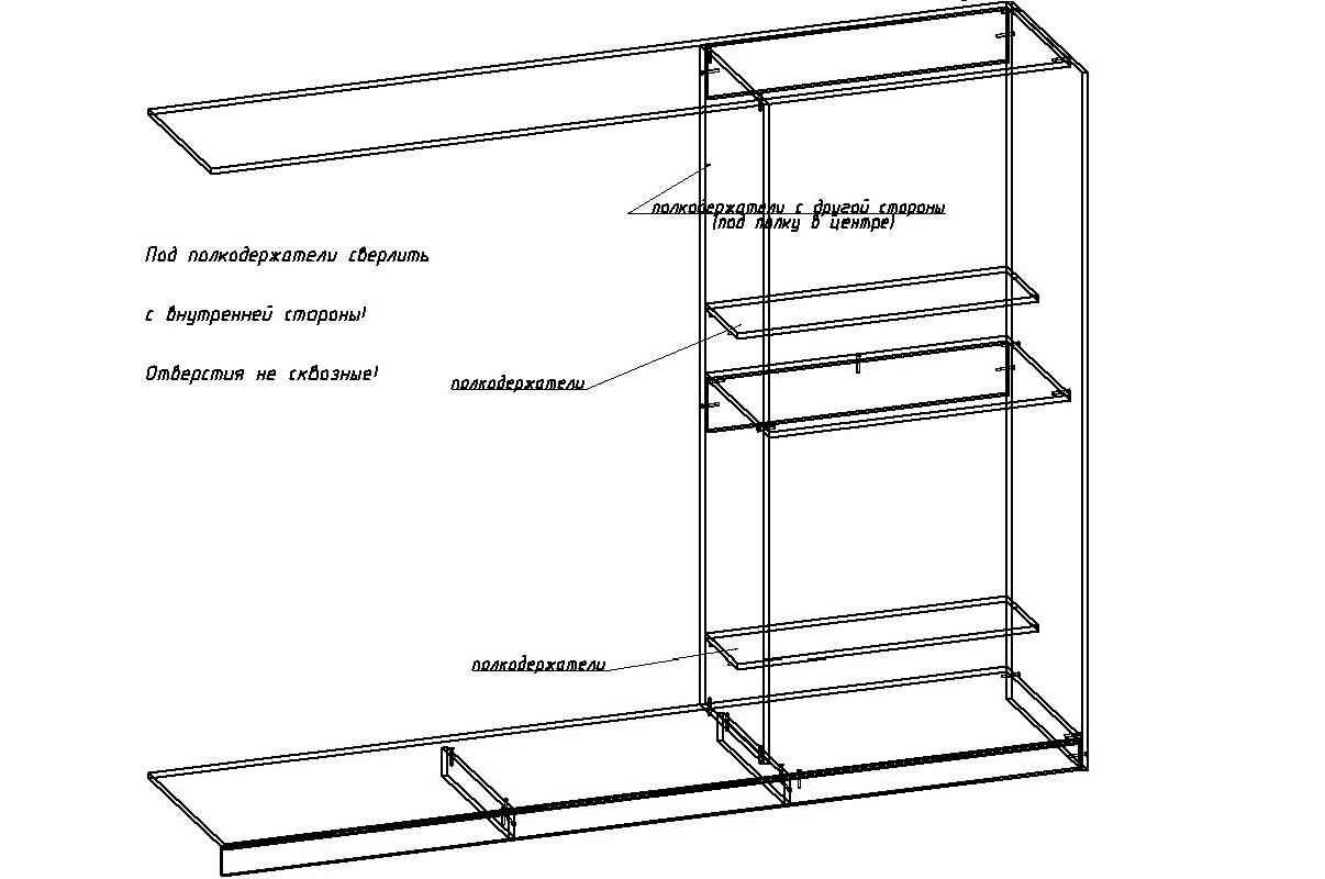 чертеж сборки шкафа, правая часть