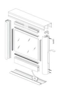Схема сборки каркасной двери купе