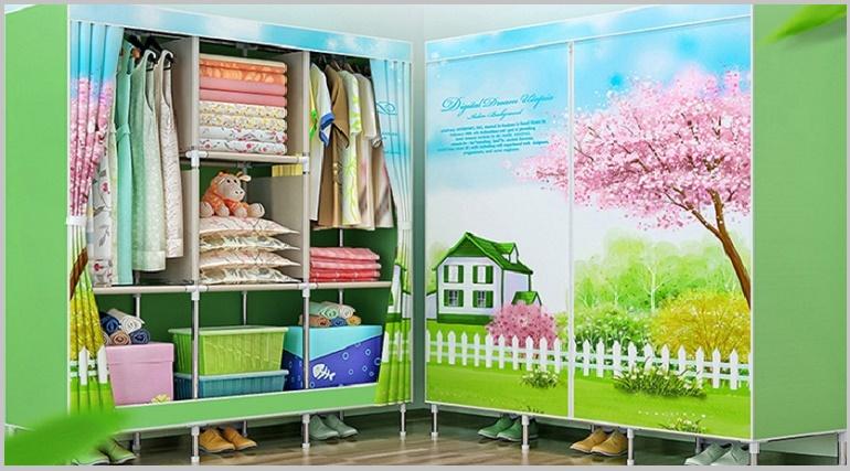 переносные тканевые шкафы для одежды