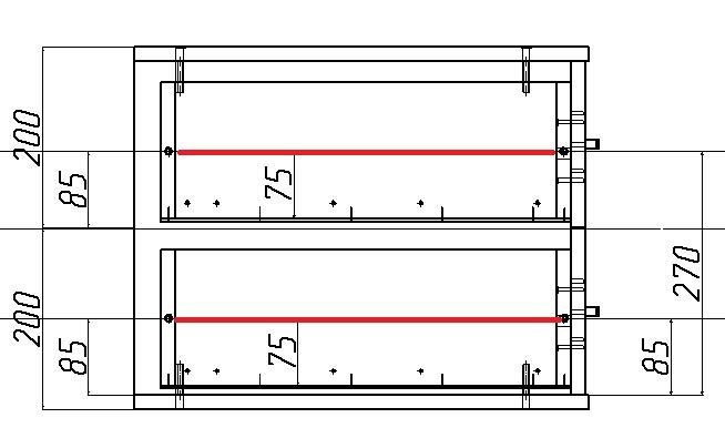 разметка под направляющие выдвижного ящика