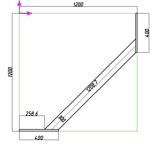 схема углового шкафа-купе