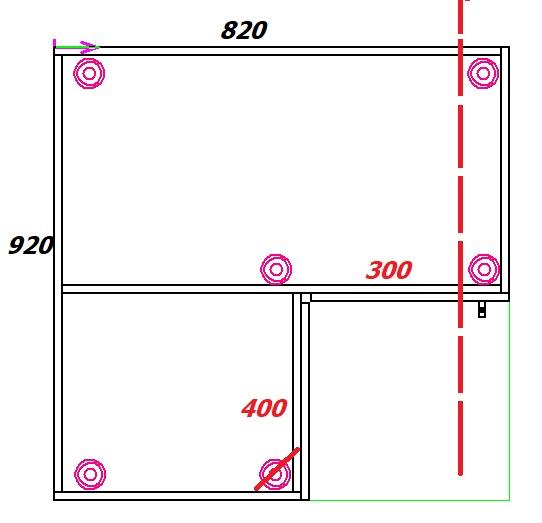 как изменять размеры углового шкафа под мойку