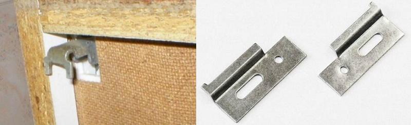 как вешают шкафы на планку при задней стенке в паз