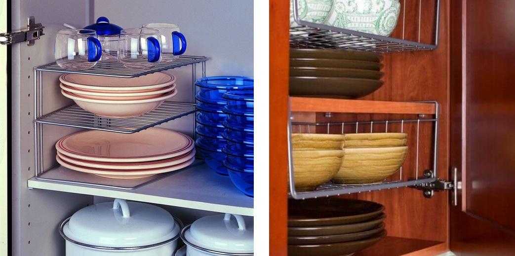 подвесные органайзеры для полок кухонных шкафов