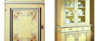 Декупаж шкафа своими руками, как можно сделать красиво и необычно