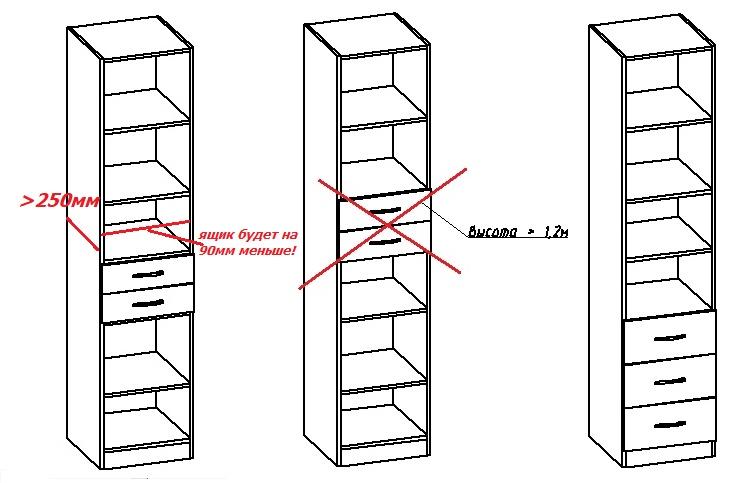 как сделать проект шкафа пенала своими руками
