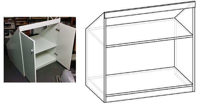 как сделать шкаф на мансарду своими руками