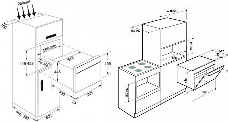 схема и чертеж как сделать кухонный шкаф пенал своими руками