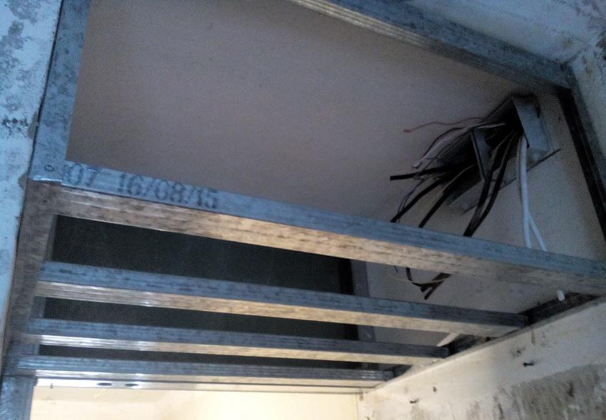 как сделать шкаф в нишу из гипсокартона