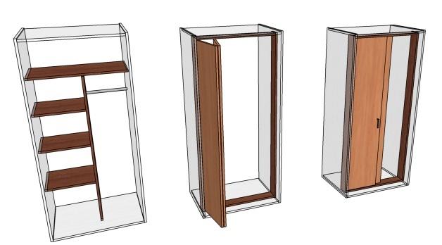 как сделать встроенный шкаф в нишу стены своими руками