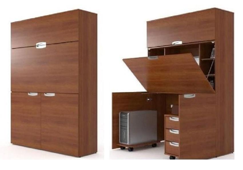 шкаф в нишу своими руками с рабочим столом