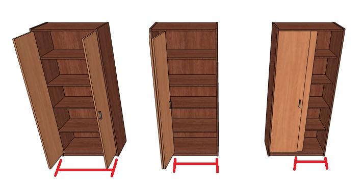 шкаф в нишу своими руками с распашными дверьми, купе и гармошкой