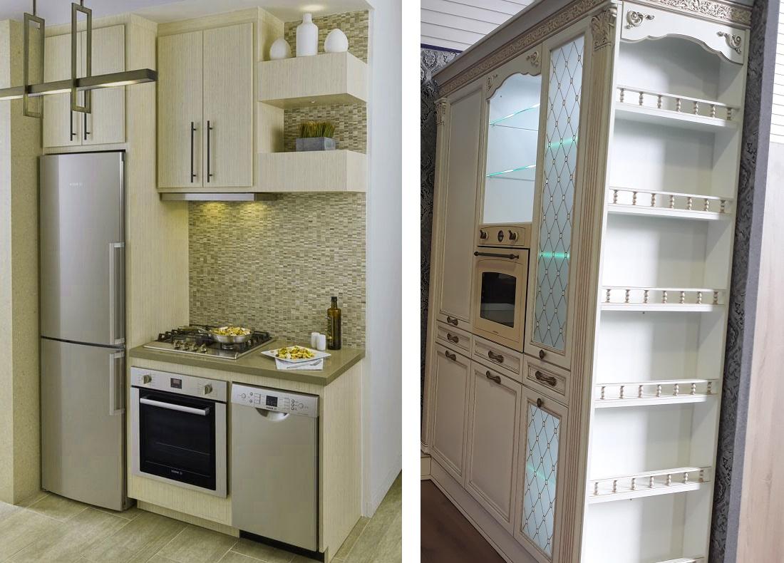 торец шкафов на кухне, оформление
