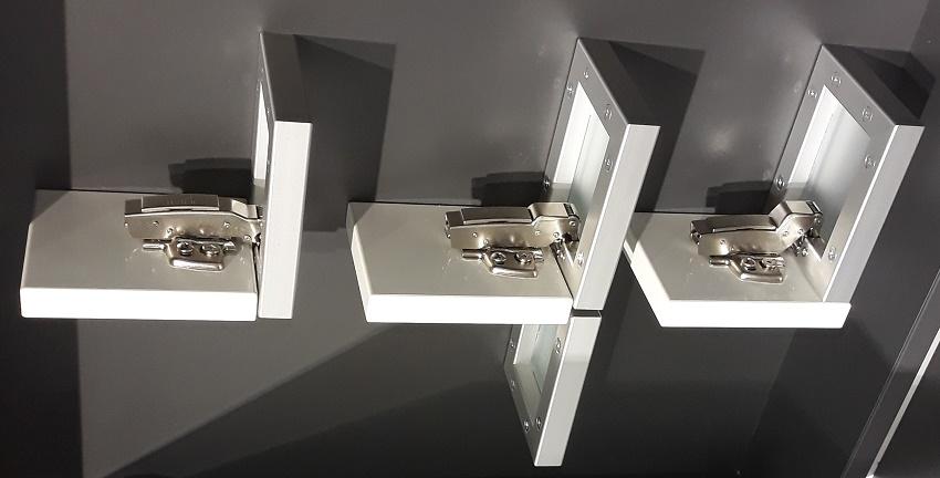 три разновидности мебельных петель для шкафа