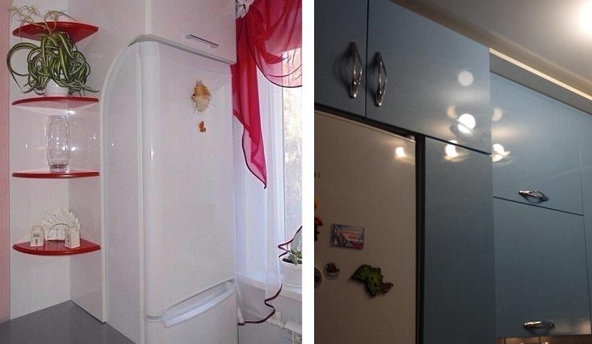 надстройки и шкафы для холодильника