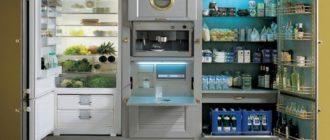Шкаф для встроенного холодильника и обычного: все варианты обстановки для кухни