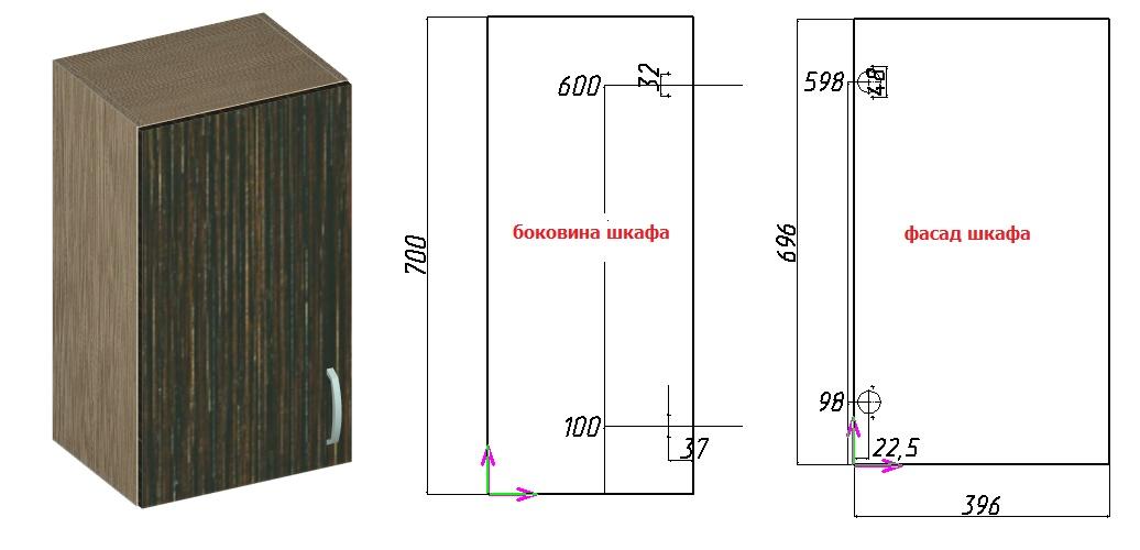 схема установки накладной петли на дверцу шкафа