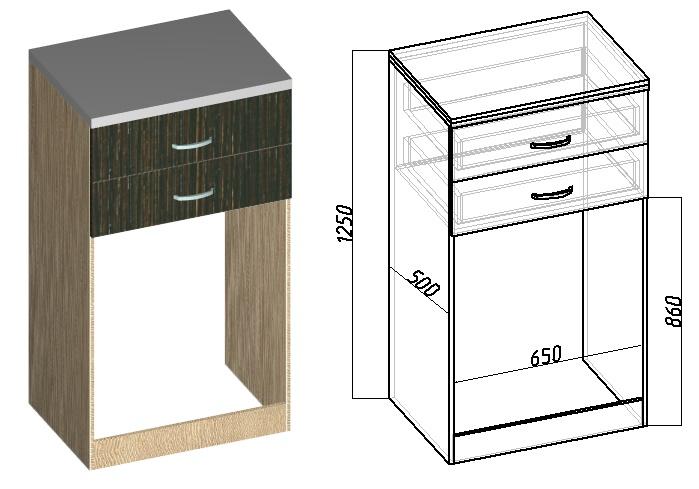 чертеж шкафа для стиральной машины своими руками