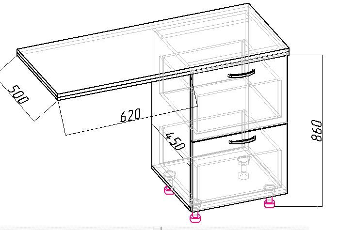 чертеж тумбы для стиральной машины