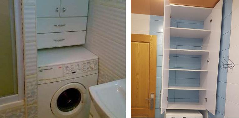 навесной шкаф над стиральной машиной