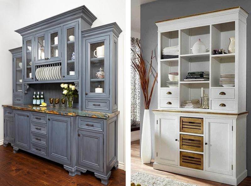 буфет - высокий напольный шкаф для посуды