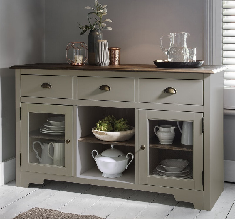 Креденца невысокий напольный шкаф для посуды