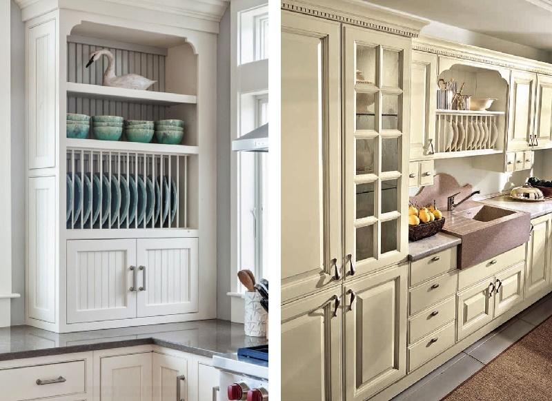 дизайн навесного шкафа для посуды