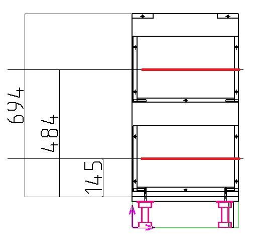 схема установки направляющих выдвижных ящиков