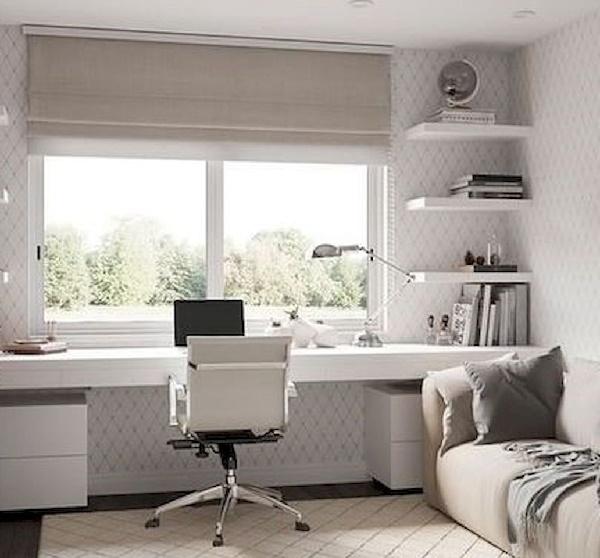 Стол со шкафами вдоль окна: фото подборка удачных дизайн проектов интерьера детской