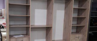 Внутреннее наполнение больших шкафов на примере чертежей и фото