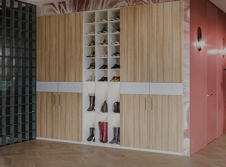 Какой выбрать цвет для встроенного шкафа?