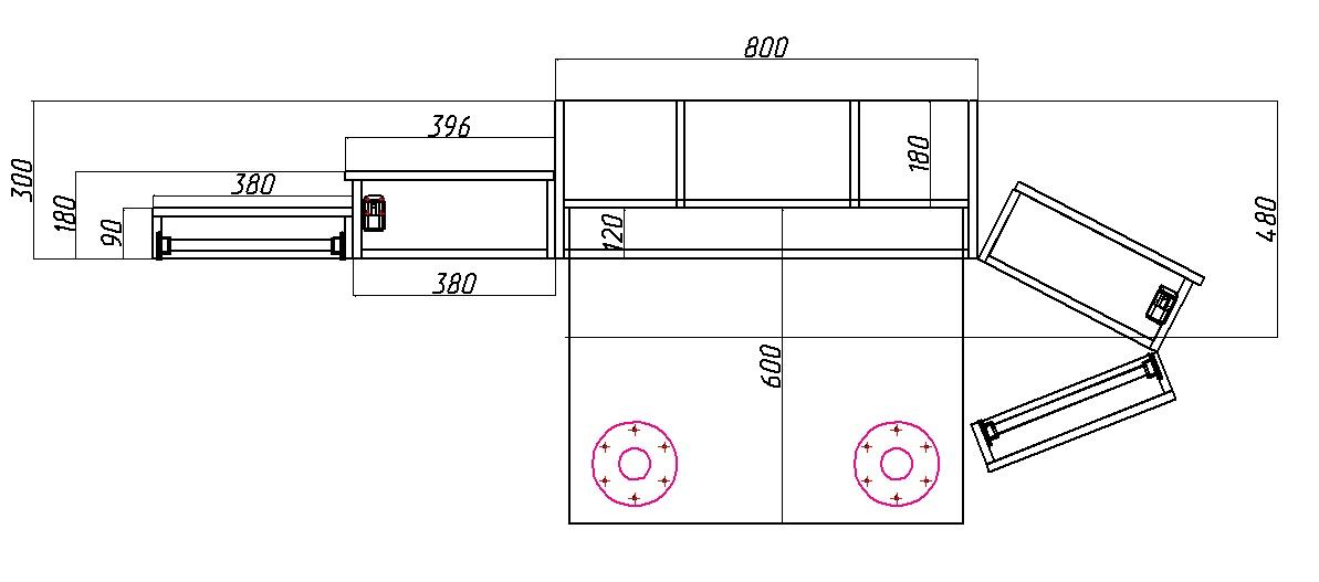 размеры шкафа трансформера для рукоделия