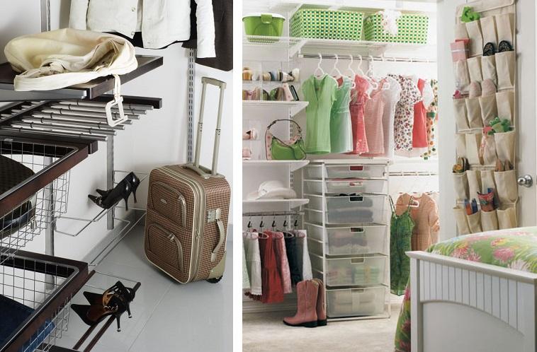 оснащение гардеробной комнаты