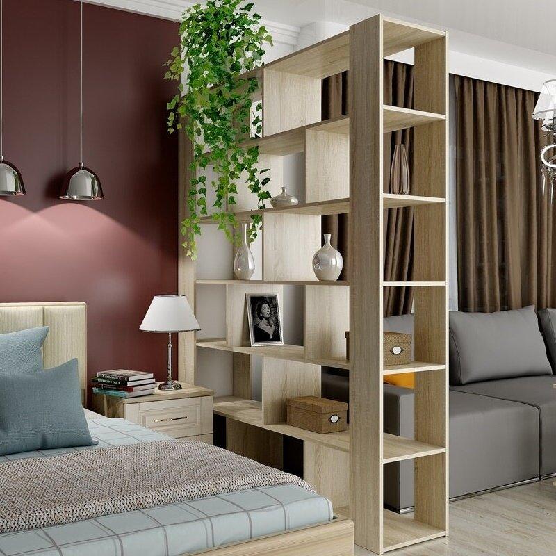 Подборка идей, как можно сделать зонирование шкафом в комнате